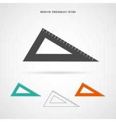 Triangle ruler icon vector