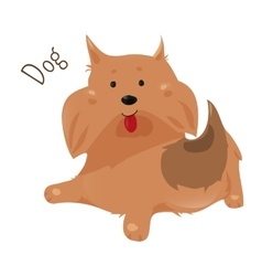 Dog isolated sticker for kids child fun icon vector