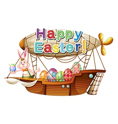 A unique happy easter greeting vector image vector image