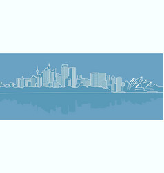 Abstract city on a blue background vector