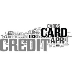 Apr credit cards a tool to eliminate debt text vector