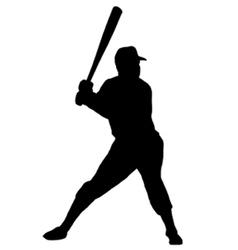 Baseball player silhouette vector