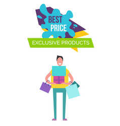 best price and products on vector image vector image