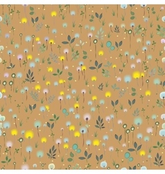 Blossoming field floral seamless pattern vector