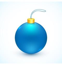 Blue isolated christmas ball vector
