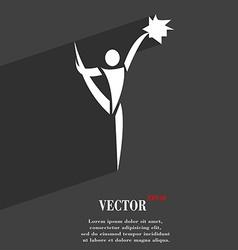 Cheerleader symbol flat modern web design with vector
