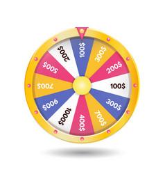 colorful realistic fortune wheel icon vector image
