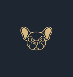 Dog logo icon design template vector