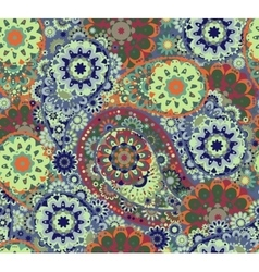 Floral paisley seamless pattern Colorful vector image
