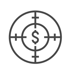 funds hunting thin line icon vector image