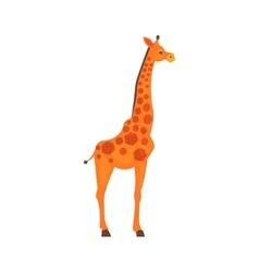 Giraffe realistic simplified drawing vector