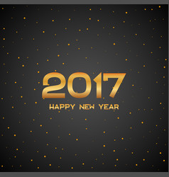 golden new year 2017 particles background gold vector image