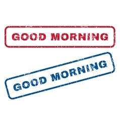 Good morning rubber stamps vector