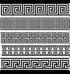 greek key seamless pattern collection vector image vector image