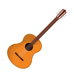 guitar instrument icon vector image vector image