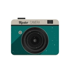 Hipster photo camera vector image