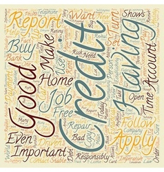 How Good Is Your Credit Why Does It Matter text vector image vector image