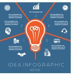 Idea business concept light bulb infographic5 vector