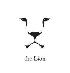 Image of an lion head on white background vector