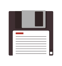 Isolated diskette design vector