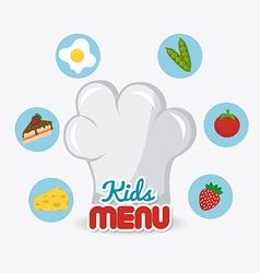 Kids food design vector