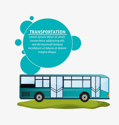 modern bus transport infographic vector image