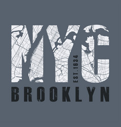 new york tee print t-shirt design graphics stamp vector image vector image