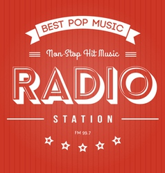 Radio Poster vector image