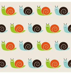 Seamless snails pattern vector image