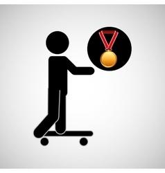 Skater medal sport extreme graphic vector