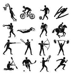Sport Sketch People Set vector image