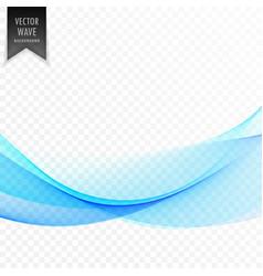stylish blue wave design vector image