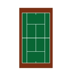 Tennis camp net isolated icon vector