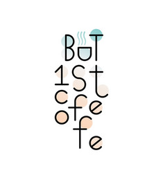 Text logo lettering at the coffee shop vector