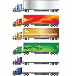 truck and trailer vector image vector image