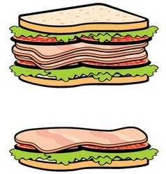 Two sandwiches vector image vector image