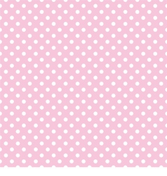 White polka dots on tile pink background pattern vector image vector image