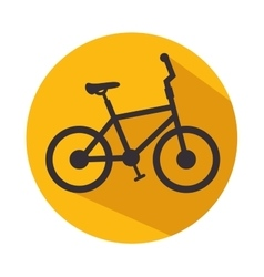 bicycle icon fitness sport vector image