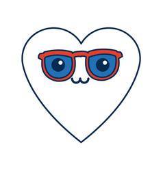 Kawaii heart love romance cartoon symbol vector