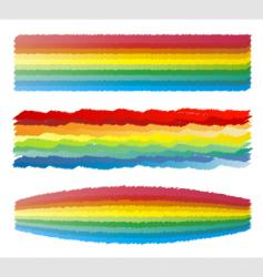 Rainbow crayon scribble vector