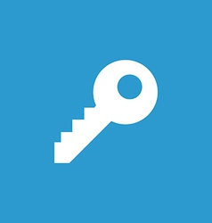 Key icon white on the blue background vector