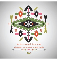 Colorful decorative element in native vector