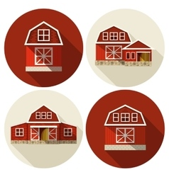 Farm building flat vector