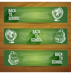 Banners set hand drawn vector