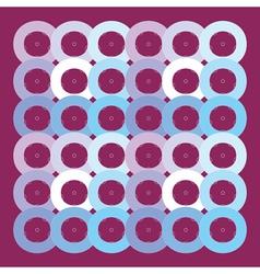 circles geometric pattern vector image