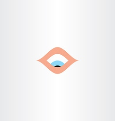 Human eye looking down icon vector