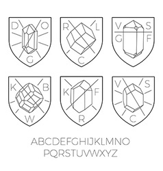 Heraldry icons with precious stones part 2 vector