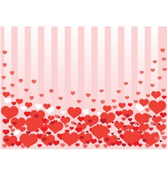 Background from hearts vector image