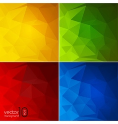 Abstract color geometric background vector image vector image