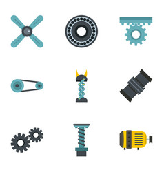 auto parts icon set flat style vector image